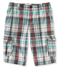 Here comes the sun! Good thing you're ready for it in our Plaid Cargo Shorts.