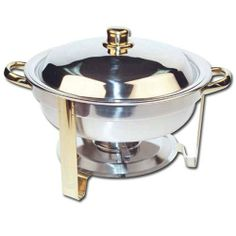 Winware 4 Quart Round Stainless Steel Gold Accented Chafer by Winco USA, http://www.amazon.com/dp/B001B66LXW/ref=cm_sw_r_pi_dp_KFe1rb1RSY08W