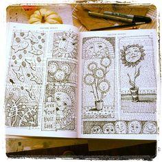 Debbie Miller Doodle- I  love the idea of doodling in an old book.