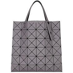 BAO BAO ISSEY MIYAKE Lucent Grey Matte Tote (£375) ❤ liked on Polyvore featuring bags, handbags, tote bags, grey tote, gray tote bag, grey tote handbags, grey purse and handbag tote