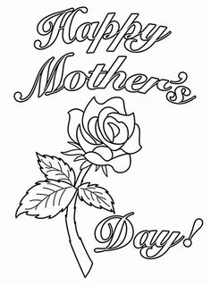 Happy Mothers Day Coloring Pages Drawing Painting Sheets