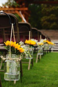 Shepherd Hooks Mason Jars | mrandmrswinslett: The Wedding: Our Ceremony