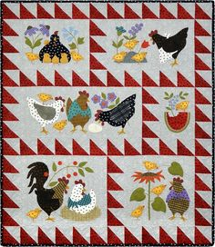 PRE-ORDER LIMITED: by Maywood Studios – Woolies – Here a Chick, There a Chick Precut Quilt Kit – Shipping Mid-January 2017