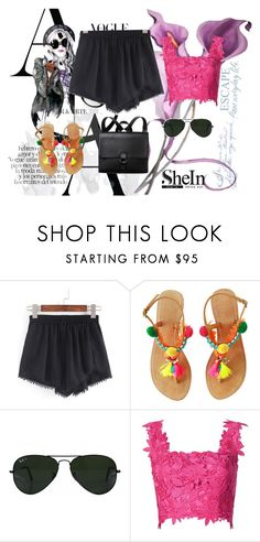 """""""Sheins contekst"""" by dinka1-749 ❤ liked on Polyvore featuring Ray-Ban, Monique Lhuillier, Monki and Nautica"""