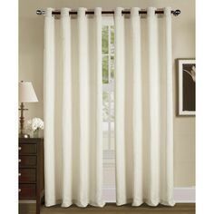 Shop for RT Designers Collection Camden Jacquard Grommet Curtain Panel - 54 x 84 in. Get free delivery On EVERYTHING* Overstock - Your Online Home Decor Outlet Store! Get in rewards with Club O! Grommet Curtains, Drapes Curtains, Curtain Panels, Window Coverings, Window Treatments, Futon Covers, Taupe, Beige, Furniture Covers