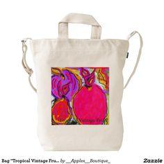 """Bag """"Tropical Vintage Fruit"""" Duck Canvas Bag"""