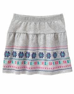 Gymboree Fall/Winter Heather Grey Fair Isle Skirt - Girls Size:8 #Gymboree #Everyday