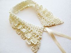 Pearl Embroidery #Collar