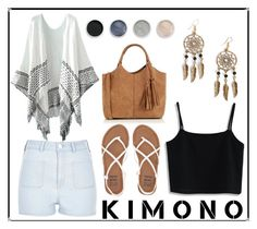 """""""Spring Kimono Look"""" by nclarke-evelyn ❤ liked on Polyvore featuring Chicwish, Oasis, River Island, Billabong, Boohoo, Terre Mère and kimonos"""