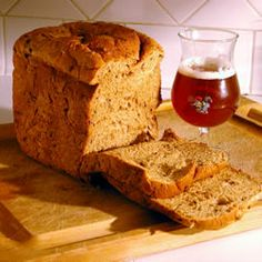 "Spent Grain Wheat Bread Recipe -- ""This bread is an excellent way to use some of the grain that is left over when brewing beer. Just make sure that you aren't using spent grain that has hops mixed in with it! Spent Grain Bread Machine Recipe, Bread Dough Recipe, Wheat Bread Recipe, Bread Maker Recipes, Rum Recipes, Recipies, Healthy Recipes, Korn, Baking With Beer"