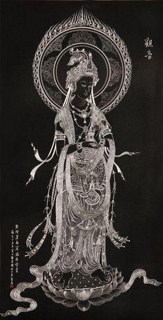 Guan Yin by ChineseSculpture Buddha Kunst, Buddha Zen, Art Chinois, Spiritual Images, Tibetan Art, Taoism, Guanyin, Buddhist Art, Japan Art