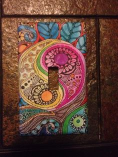 Multi-colored Paisley Art Pattern Light Switch Cover 4 Mothers Day Gift