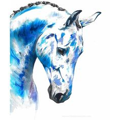 Horse painting in a contemporary watercolour pet portrait by Chloe brown artist Watercolor Horse, Watercolour Painting, Chloe Brown, Horse Artwork, Blue Palette, Contemporary Artwork, Pet Portraits, Pearl White, Original Artwork