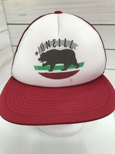 O'Neill Baseball Cap Hat Snapback OSFA  Blue And White O Neill