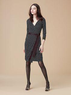 New Julian Wrap Dress in Ferma Black