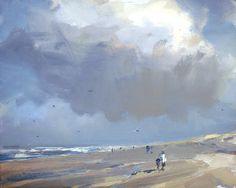 Seascape winter #22 Cloud, sunny cold beach, 24x30 cm, Roos Schuring, 2012 Zeegezicht http://rosepleinair.com