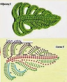 Easy Crochet Rose Flower Free Pattern in 9 Steps This Pin was discovered by Ton 4 beautiful leaves to crochet Marianacrochetvzla on – Artofit Crochet Leaf Patterns, Crochet Leaves, Crochet Motifs, Freeform Crochet, Crochet Designs, Crochet Stitches, Knitting Patterns, Crochet Puff Flower, Crochet Flower Tutorial