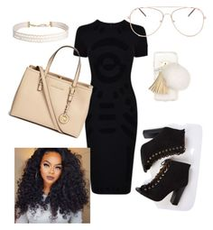 """goin out 😍💦"" by thequeenc128 on Polyvore featuring McQ by Alexander McQueen, Michael Kors, Ashlyn'd and Humble Chic"