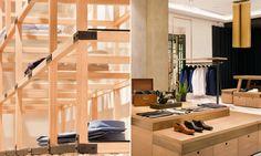 Joe Black, Emporium - Mim Design Mim Design, Retail Shop, Commercial Interiors, Retail Design, Restaurant Design, Museums, Bed, Display, Detail