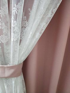Shabby Chic Fairy Tale Double Layer Rose Vine Dusty Pink and Sheer Curtain, Lace Curtain, Rod Pocket/Pinch Pleated Drapery, Drape Tissu Style Shabby Chic, Tela Shabby Chic, Cortinas Shabby Chic, Rideaux Shabby Chic, Shabby Chic Fabric, Shabby Chic Curtains, Home Curtains, Shabby Chic Bedrooms, Shabby Chic Decor