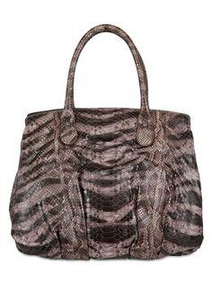 Borsa Passage in pitone e stampa leopard Zagliani  #itbag #borse #bags #springsummer #springsummer2014 #primaveraestate #primaveraestate2014 #purses #borsa