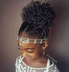 Fashion : Black Little Girl Hairstyles Latest 40 Cute Hairstyles For . Kids Hairstyles For Wedding, Natural Hairstyles For Kids, Flower Girl Hairstyles, Little Girl Hairstyles, Pretty Hairstyles, Teenage Hairstyles, Hairstyle Ideas, Black Hairstyles, Curly Haircuts