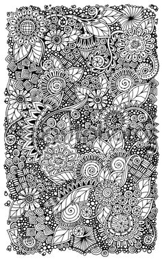 Zentangle retro floral étnico doodle círculo de patrón de fondo de vectores…