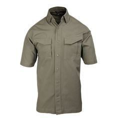 Be ready for anything that comes your way with the LT2 Tactical Shirt! This utilitarian shirt gives you the functionality you need in a lightweight, water-repellent package.• Constructed of durable 5.1 oz. polyester/cotton ripstop• DWR (Durable Water Repellent) treatment resists stains and dries quickly• Concealed collar-stay buttons and anti-roll collar inserts• Set-in sleeves with gusseted underarms for full range of motion• Snap-down media player pocket on left sleeve with button hole for…