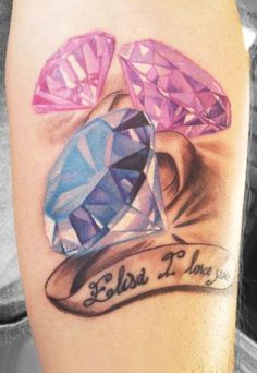 Dimonds Tattoo : Tattoo by Antonio Proietti Juwel Tattoo, Stone Tattoo, Bff Tattoos, Girly Tattoos, Word Tattoos, Sexy Tattoos, Cute Tattoos, Beautiful Tattoos, Body Art Tattoos