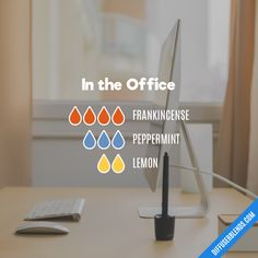 """My """"slightly stimulating"""" blend for easy productivity. #intheoffice #diffuserblends #doterra"""