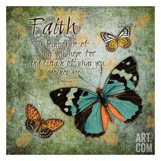 Butterfly Faith Art Print by Carole Stevens at Art.com