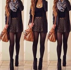 Gorgeous outfit for fall. Weird winter/fall weather... Love it