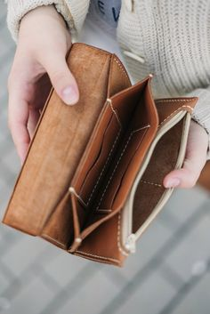 $55 Handmade Genuine Leather Wallet Women's Wallet Leather Wallet andmade