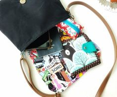 Vegan Small Crossbody Bag for Women, Boho Cross Body Purse, Fabric Saddle Bag, Mini Messenger Bag, NYC Theme Small Sling Bag Mini Messenger Bag, Mini Crossbody Bag, Novelty Print, Travel Gifts, Saddle Bags, Cross Body, Promotion, Drop, Vegan