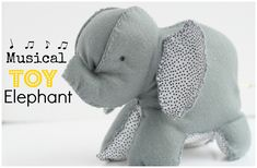 Musical Toy Elephant - step by step tutorial, free pattern and Videotutorial