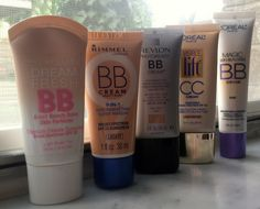 Comparison of BB and CC creams.