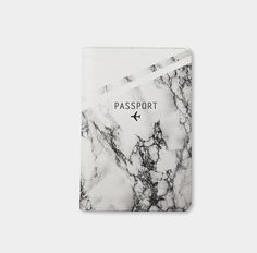Marble passport holder personalized passport by WanderlustCover