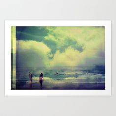 swimming in the sky Art Print by Jessica Ashley Unknown | Jessica Bee - $20.00