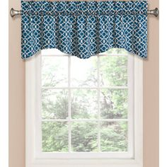 lowes: 16.97 Waverly�16-in L Indigo Home Classics Scalloped Valance