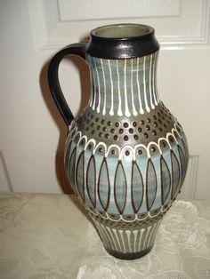 Különleges mintázatú kerámia korsó - Kerámia   Galéria Savaria online piactér - Antik, műtárgy, régiség vásárlás és eladás