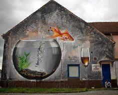 Impresionante arte urbano mural de Lonac