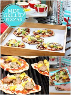 How to make mini grilled pizzas! from Pizzazzarie