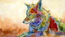 Fiesta Coyote on Siesta - Original - Sold