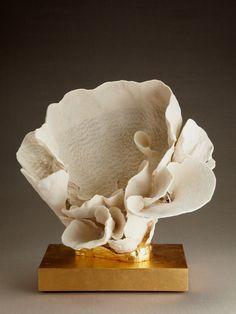 Eduardo Garza, coral mounted on a 23 karat gold gilded base