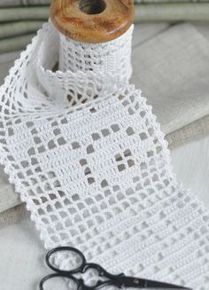 Hand crochet lace trim edging cotton white by woolnwhite on Etsy, £12.00