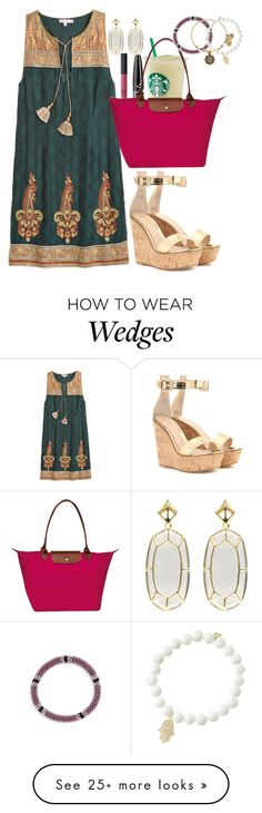 """""""Hello from the other side(of the world)"""" by grace-turnipseed on Polyvore featuring Calypso St. Barth, Gianvito Rossi, NYX, NARS Cosmetics, Longchamp, Kendra Scott, Aid Through Trade, Alex and Ani and Sydney Evan"""
