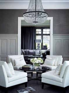Thinking of turning dining room into something like this. Not necessarily the furniture, just the idea.