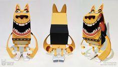 Blog Paper Toy papertoy Phidias Gold Mathieu Beaulieu pic PHIDIAS GOLD Paper Toys (x30 !!!)