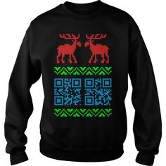 Ugly Christmas Sweater QR Code Happy New Year ! T-Shirt Christmas 24, Christmas Humor, Funny Christmas Shirts, Ugly Christmas Sweater, Florida Girl, Hoodies, Sweatshirts, Funny Dogs, Tees
