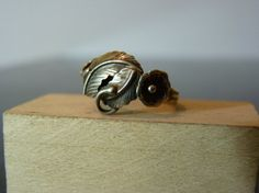 Vintage Silver Ring with Flower and Leaves by FourSailAccessories, $14.00